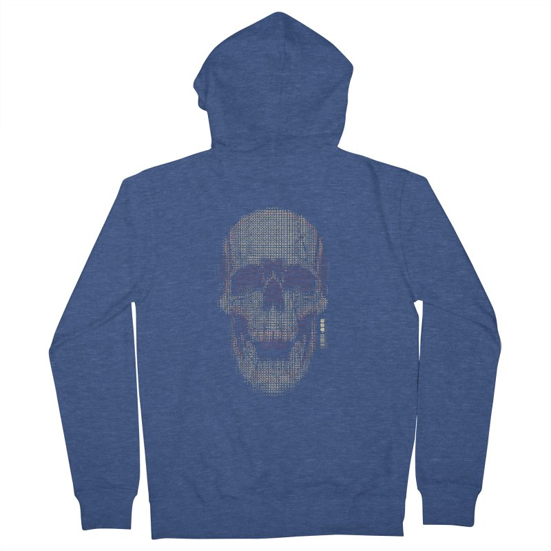 Grid Skull Women's French Terry Zip-Up Hoody by HYDRO74