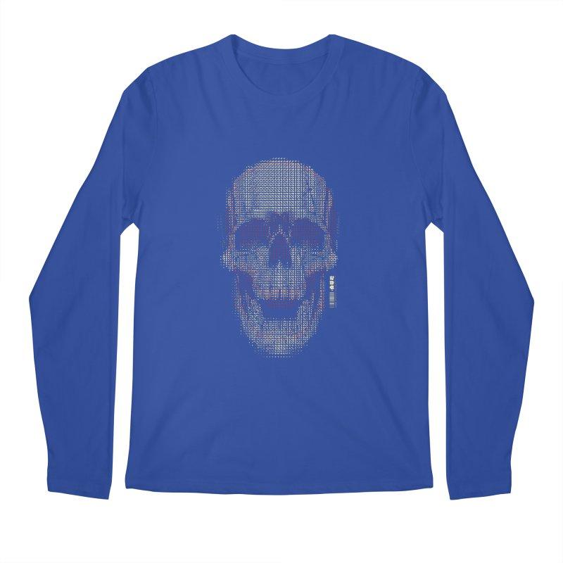 Grid Skull Men's Regular Longsleeve T-Shirt by HYDRO74