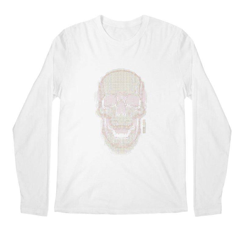 Grid Skull Men's Longsleeve T-Shirt by HYDRO74