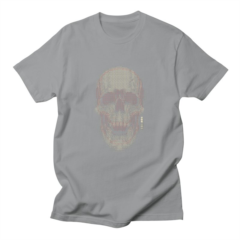 Grid Skull Men's Regular T-Shirt by HYDRO74