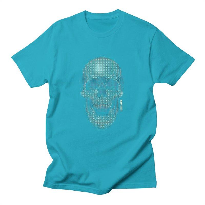 Grid Skull Men's Regular T-Shirt by HYDRO74