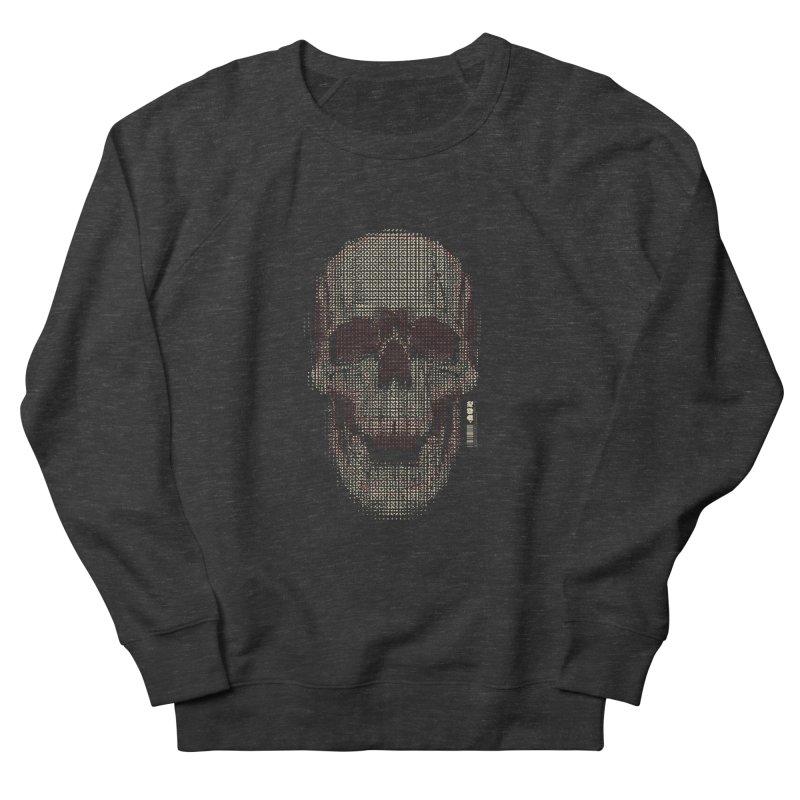Grid Skull Women's French Terry Sweatshirt by HYDRO74