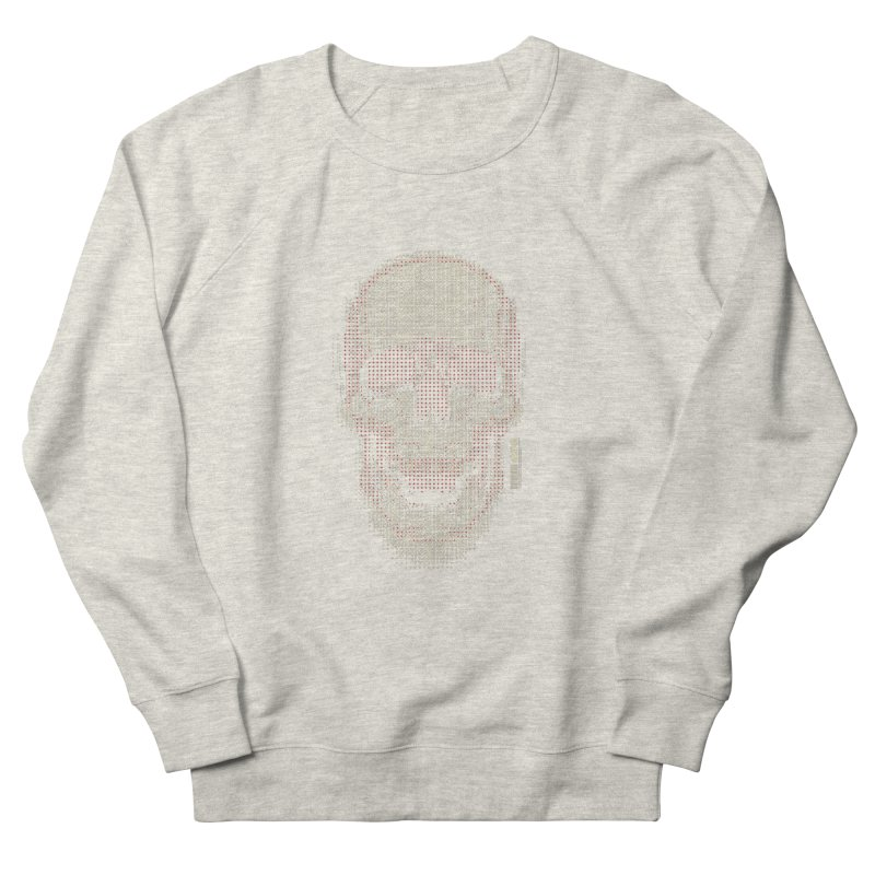 Grid Skull Women's French Terry Sweatshirt by HYDRO74