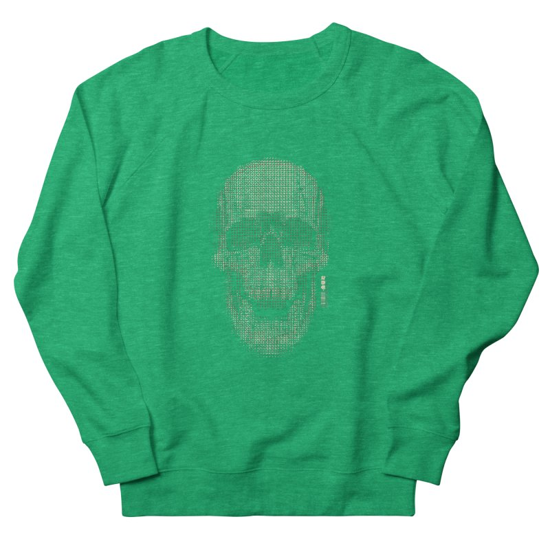 Grid Skull Men's French Terry Sweatshirt by HYDRO74