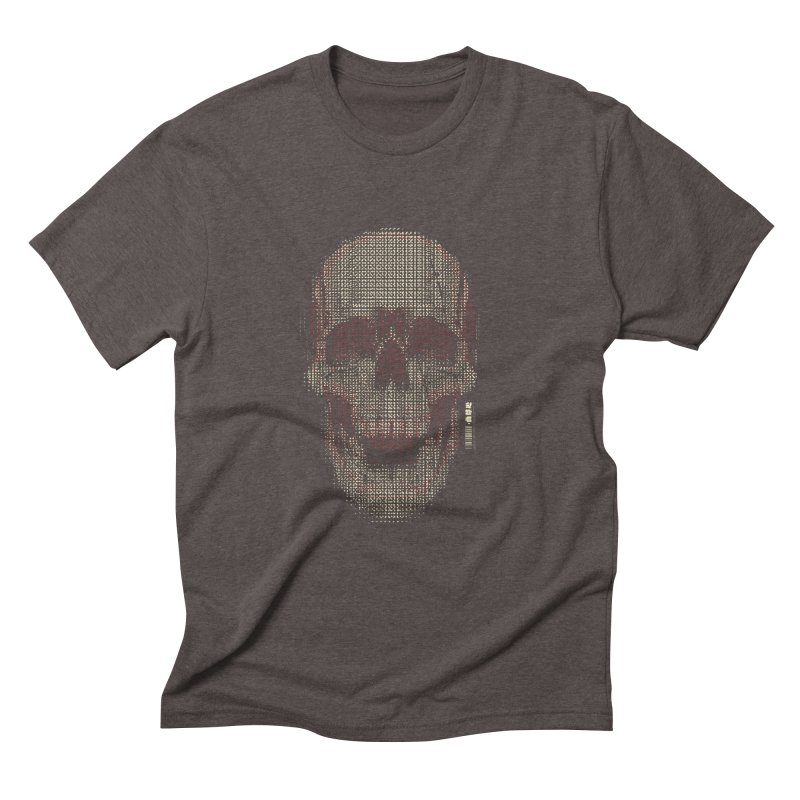 Grid Skull Men's Triblend T-Shirt by HYDRO74