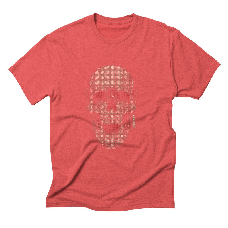 Grid Skull Men's Triblend T-Shirt by HYDRO74