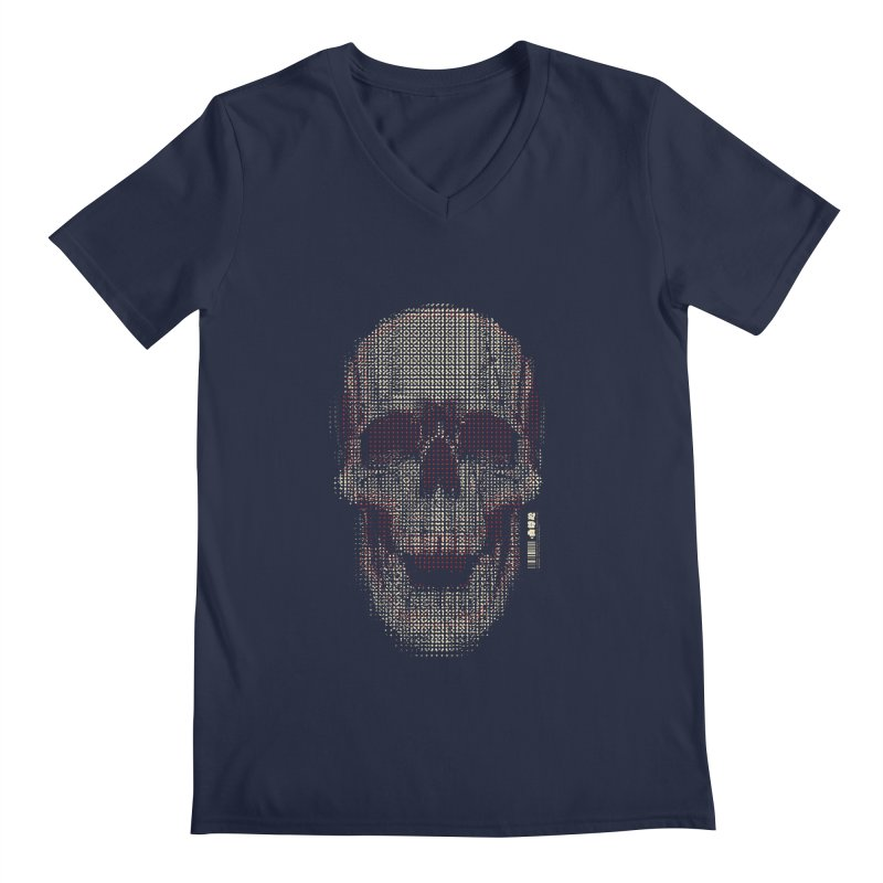 Grid Skull Men's Regular V-Neck by HYDRO74