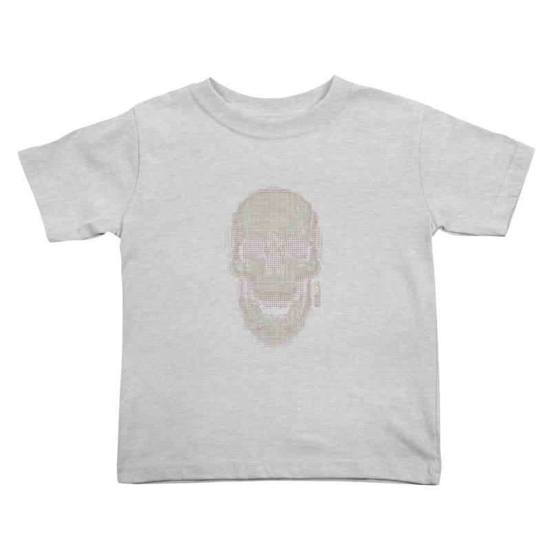 Grid Skull Kids Toddler T-Shirt by HYDRO74