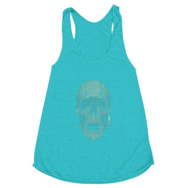 Grid Skull Women's Tank by HYDRO74