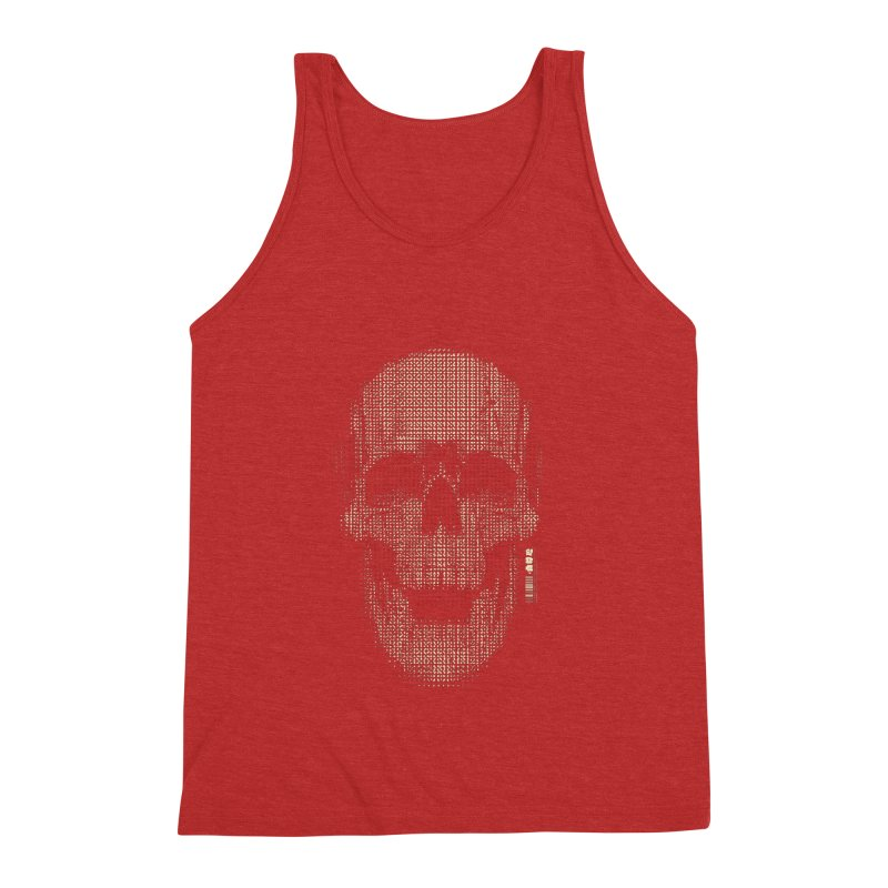 Grid Skull Men's Triblend Tank by HYDRO74