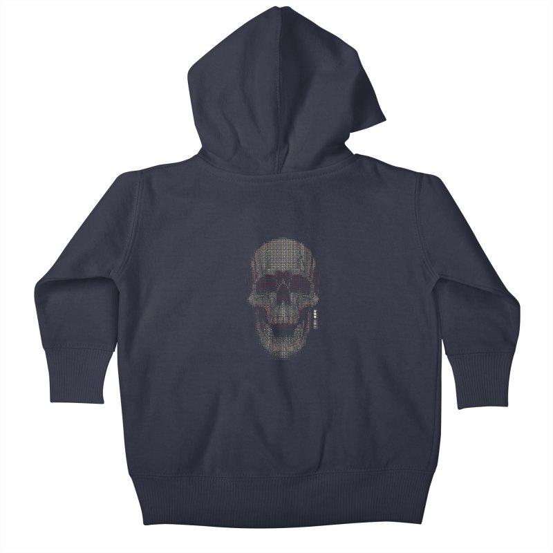 Grid Skull Kids Baby Zip-Up Hoody by HYDRO74