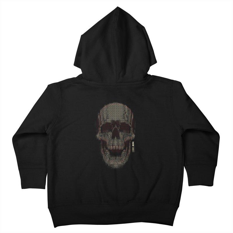 Grid Skull Kids Toddler Zip-Up Hoody by HYDRO74
