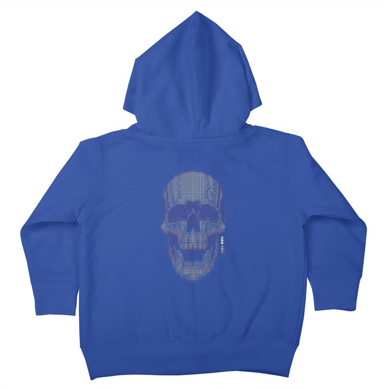 Grid Skull Kids Toddler Zip-Up Hoody by HYDRO74