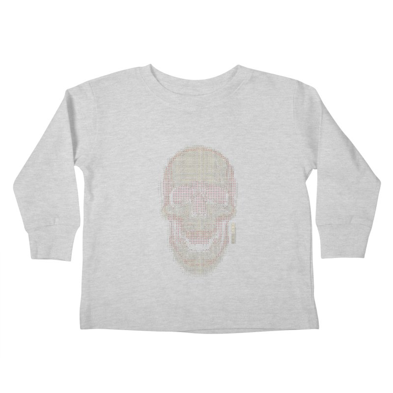 Grid Skull Kids Toddler Longsleeve T-Shirt by HYDRO74