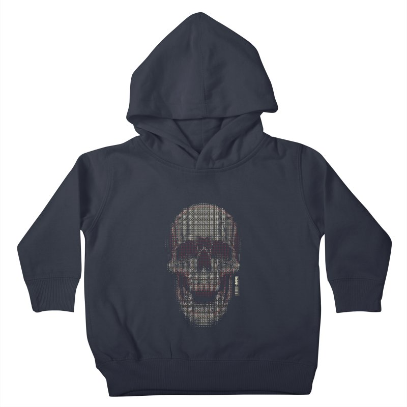 Grid Skull Kids Toddler Pullover Hoody by HYDRO74
