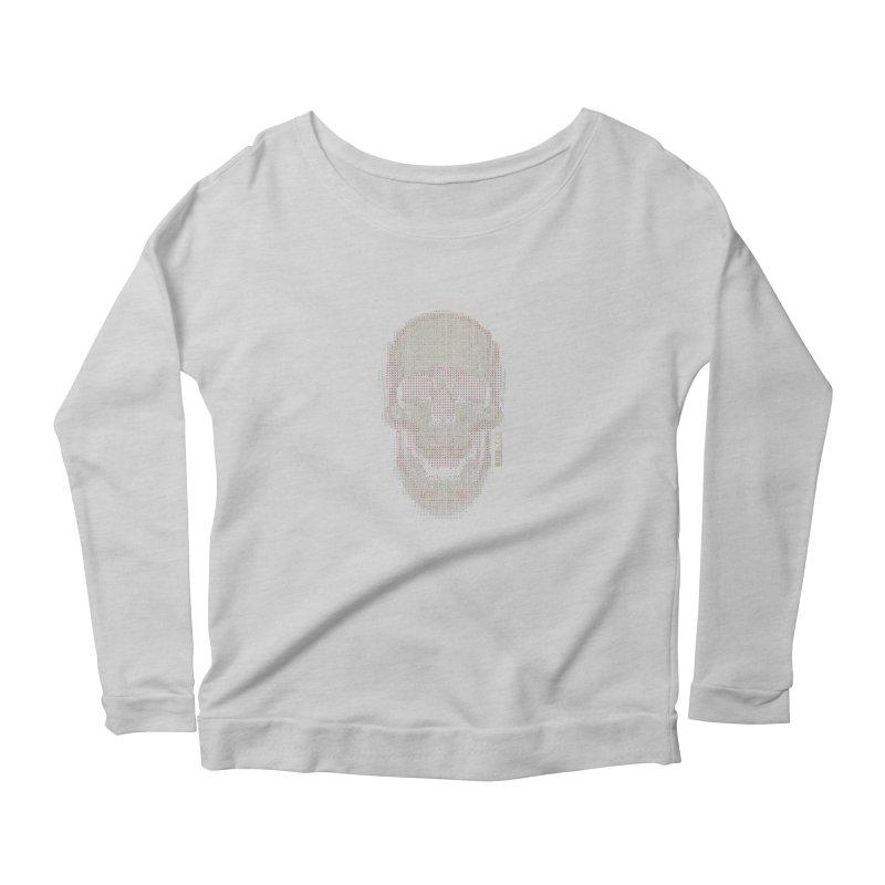 Grid Skull Women's Scoop Neck Longsleeve T-Shirt by HYDRO74