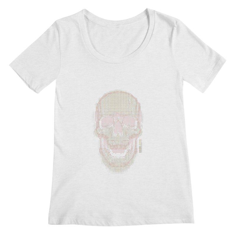 Grid Skull Women's Regular Scoop Neck by HYDRO74