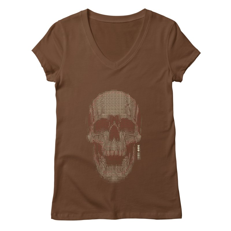 Grid Skull Women's Regular V-Neck by HYDRO74