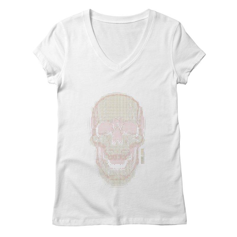 Grid Skull Women's Regular V-Neck by HYDRO74