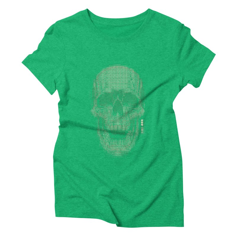Grid Skull Women's Triblend T-Shirt by HYDRO74