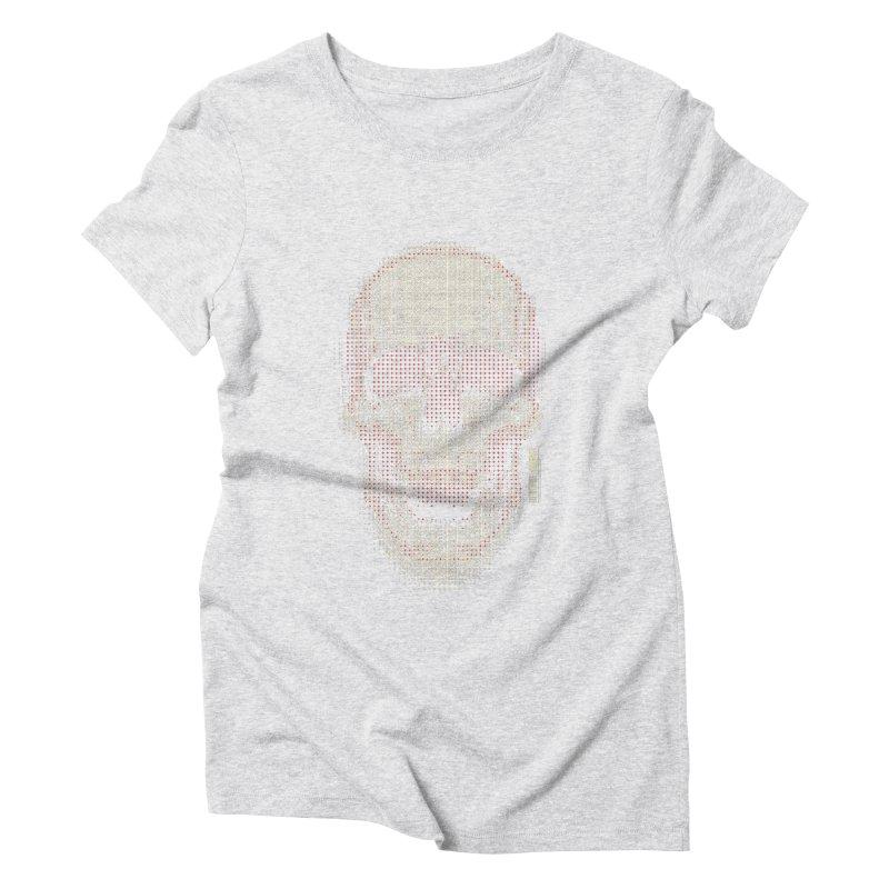 Grid Skull Women's Triblend T-Shirt by HYDRO74