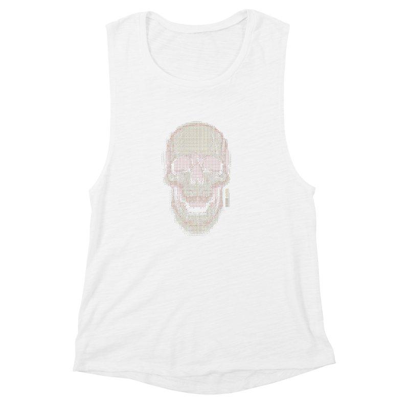 Grid Skull Women's Muscle Tank by HYDRO74