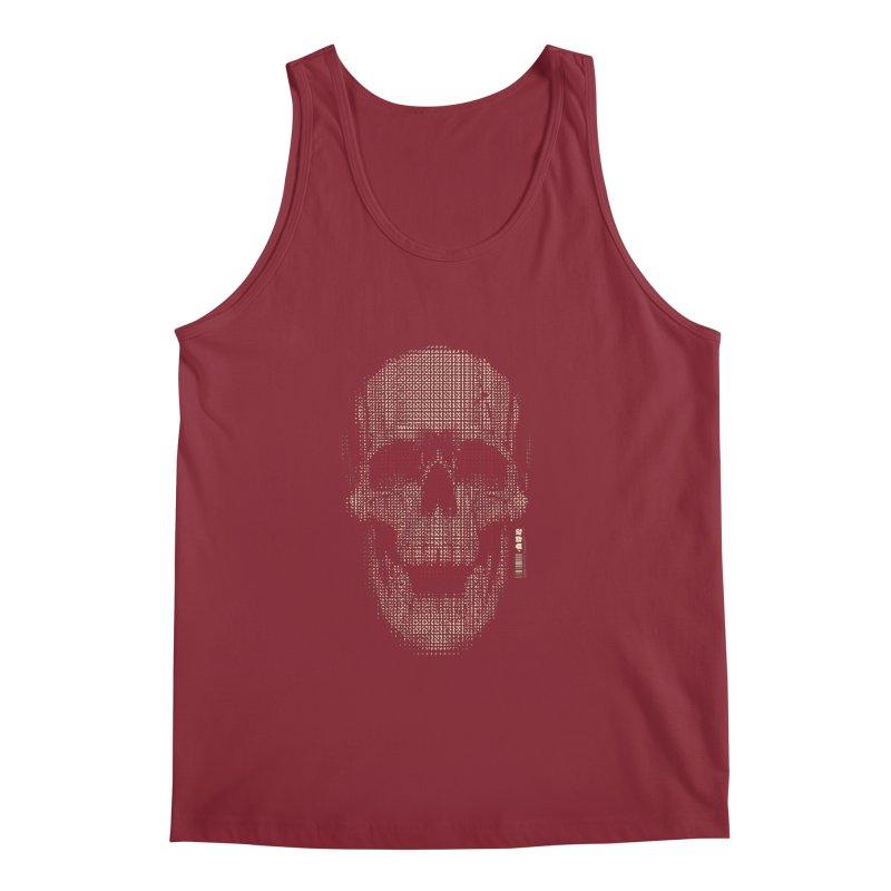 Grid Skull Men's Regular Tank by HYDRO74