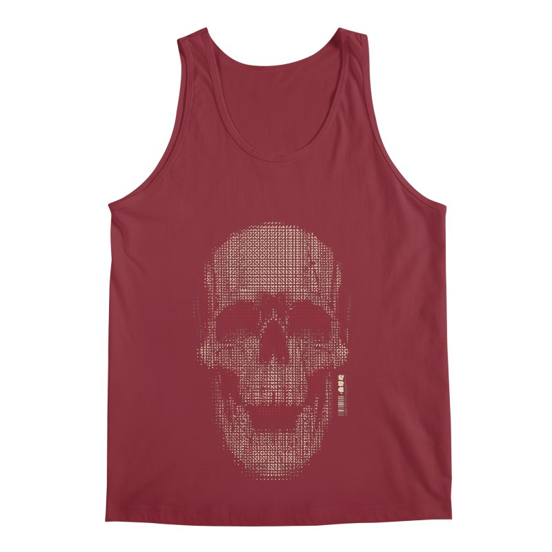 Grid Skull Men's Regular Tank by HYDRO74