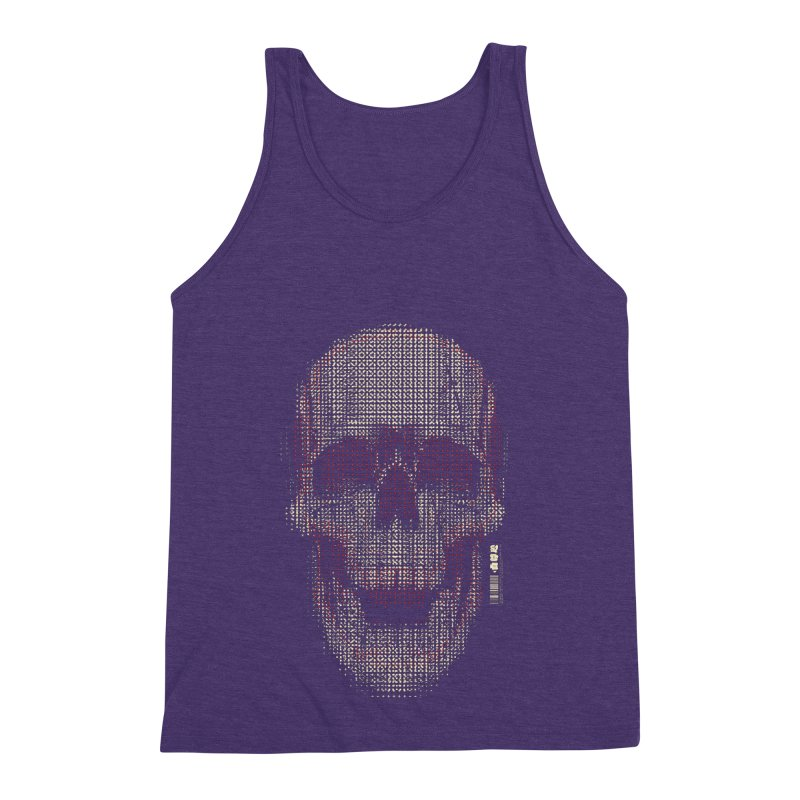 Grid Skull Men's Triblend Tank by HYDRO74
