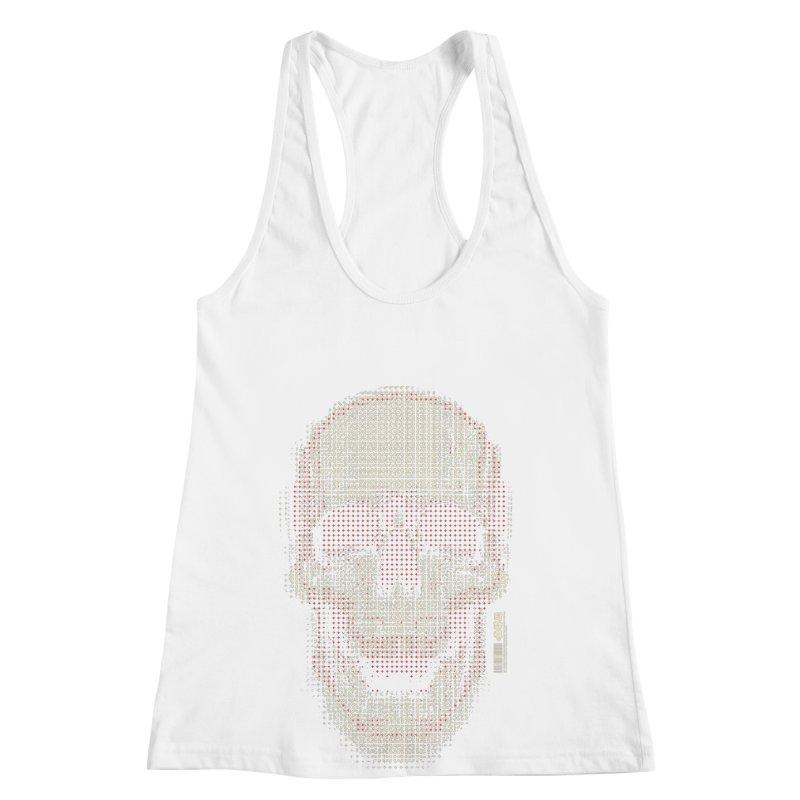 Grid Skull Women's Racerback Tank by HYDRO74