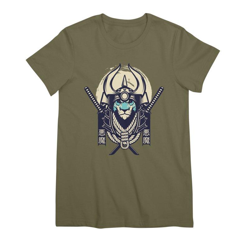 Samurai Tiger Women's Premium T-Shirt by HYDRO74