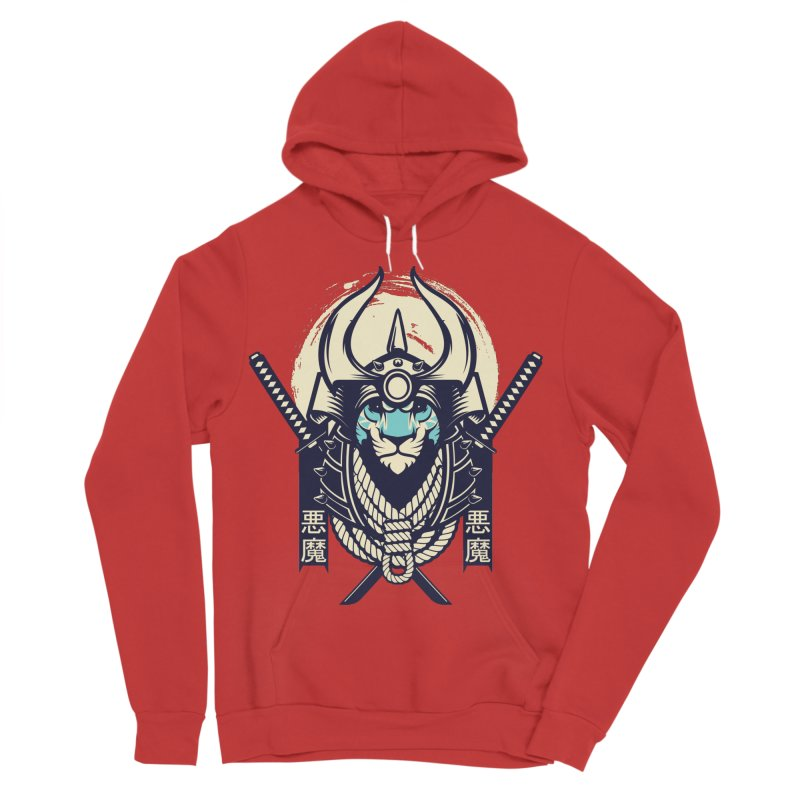 Samurai Tiger Men's Sponge Fleece Pullover Hoody by HYDRO74