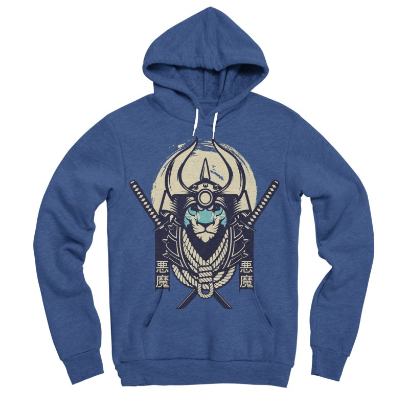 Samurai Tiger Women's Sponge Fleece Pullover Hoody by HYDRO74