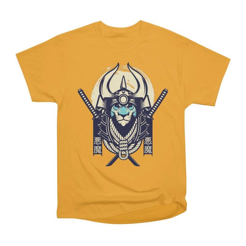 Samurai Tiger Women's Heavyweight Unisex T-Shirt by HYDRO74