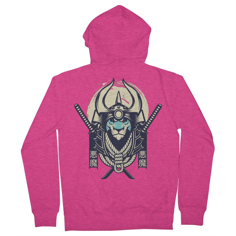 Samurai Tiger Women's French Terry Zip-Up Hoody by HYDRO74