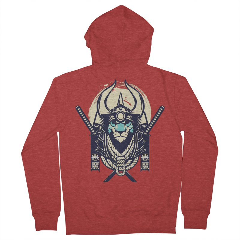 Samurai Tiger Men's French Terry Zip-Up Hoody by HYDRO74