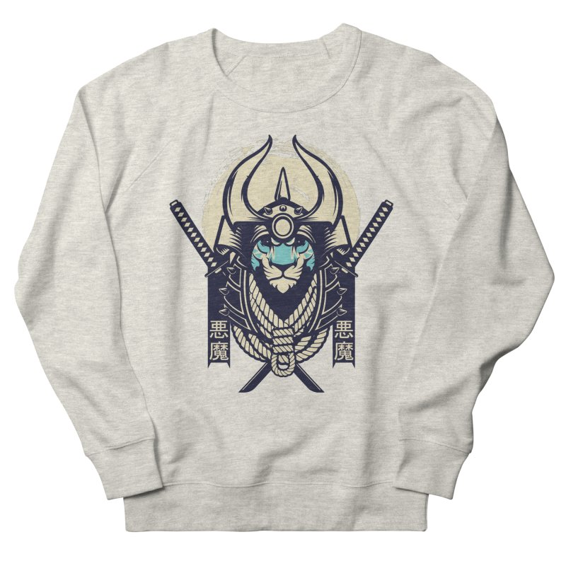 Samurai Tiger Men's French Terry Sweatshirt by HYDRO74