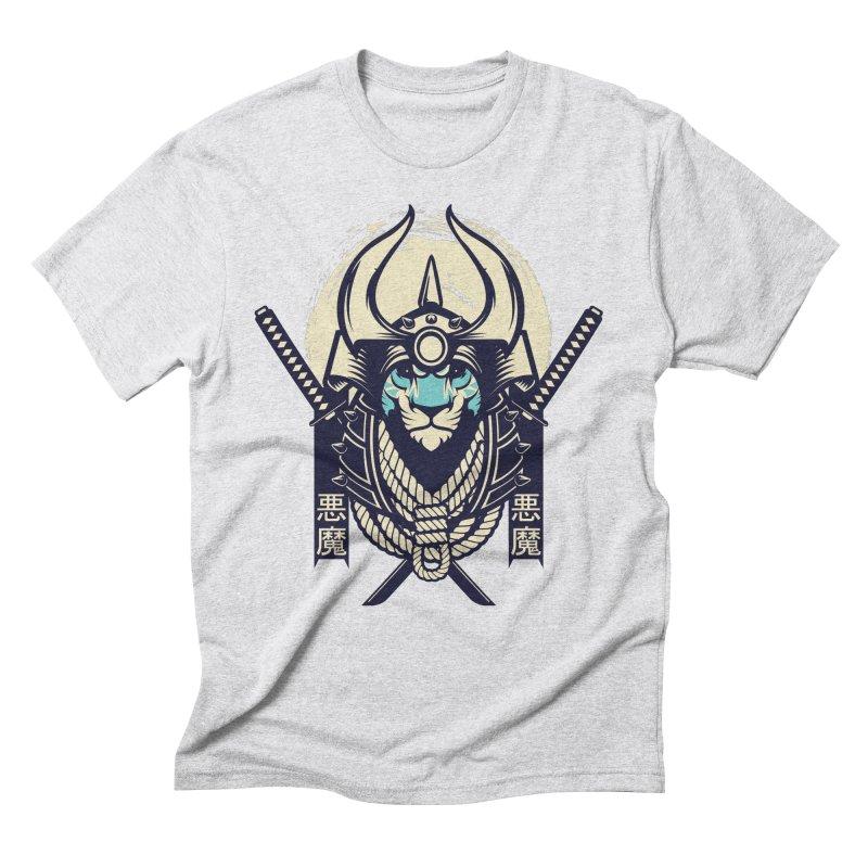 Samurai Tiger Men's Triblend T-Shirt by HYDRO74