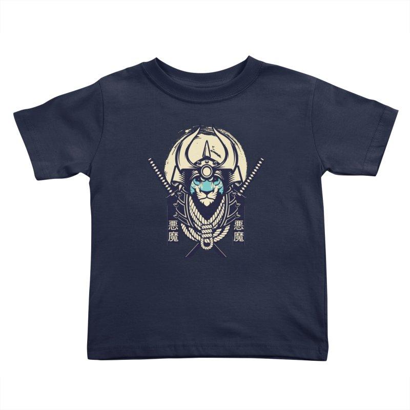 Samurai Tiger Kids Toddler T-Shirt by HYDRO74