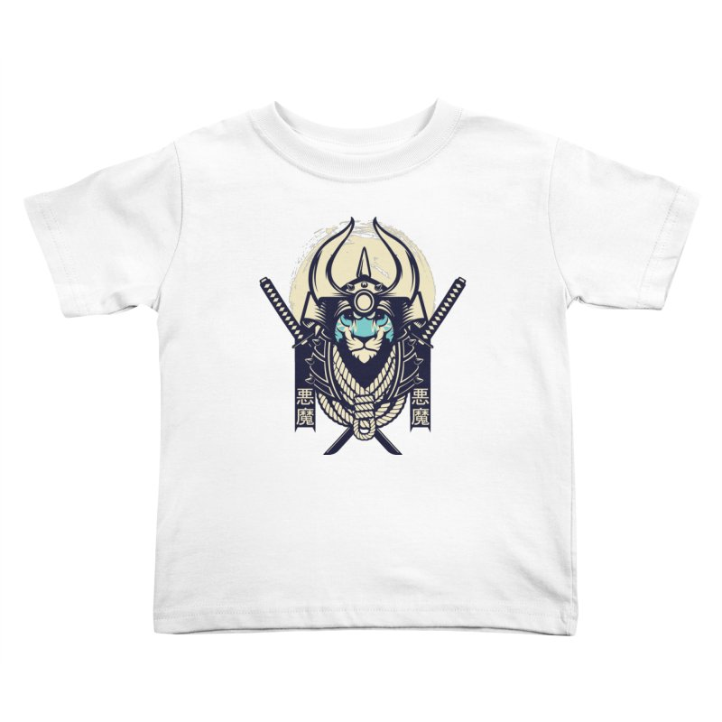 Samurai Tiger Kids Toddler T-Shirt by HYDRO74