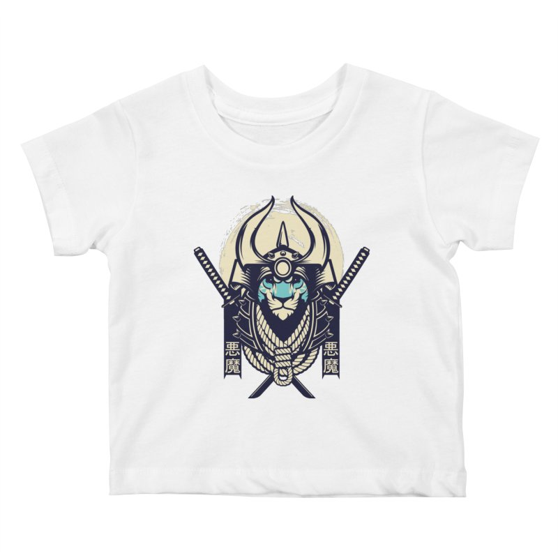 Samurai Tiger Kids Baby T-Shirt by HYDRO74