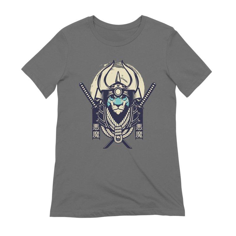Samurai Tiger Women's T-Shirt by HYDRO74