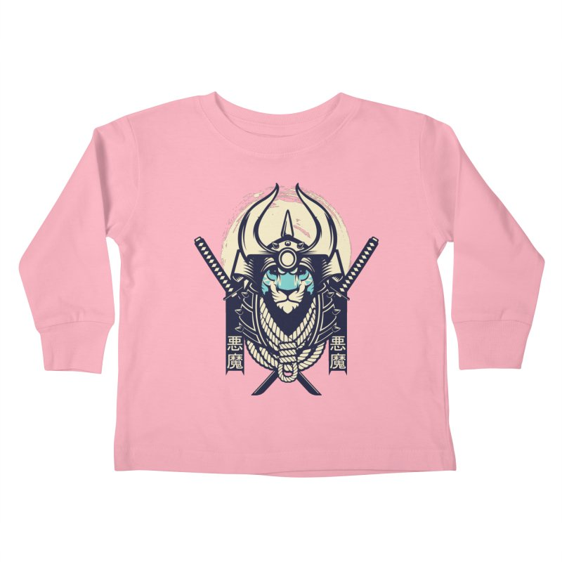 Samurai Tiger Kids Toddler Longsleeve T-Shirt by HYDRO74