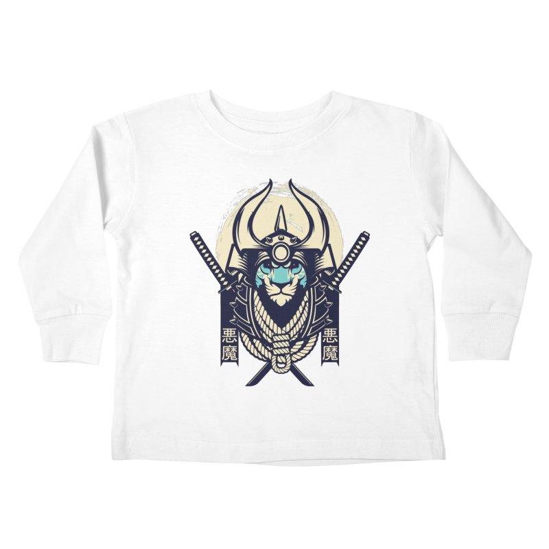 Samurai Tiger Kids Toddler Longsleeve T-Shirt by HYDRO74