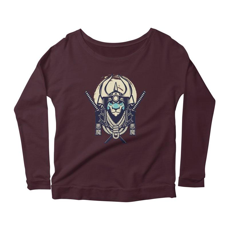 Samurai Tiger Women's Scoop Neck Longsleeve T-Shirt by HYDRO74