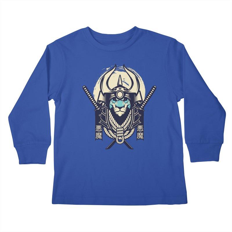 Samurai Tiger Kids Longsleeve T-Shirt by HYDRO74