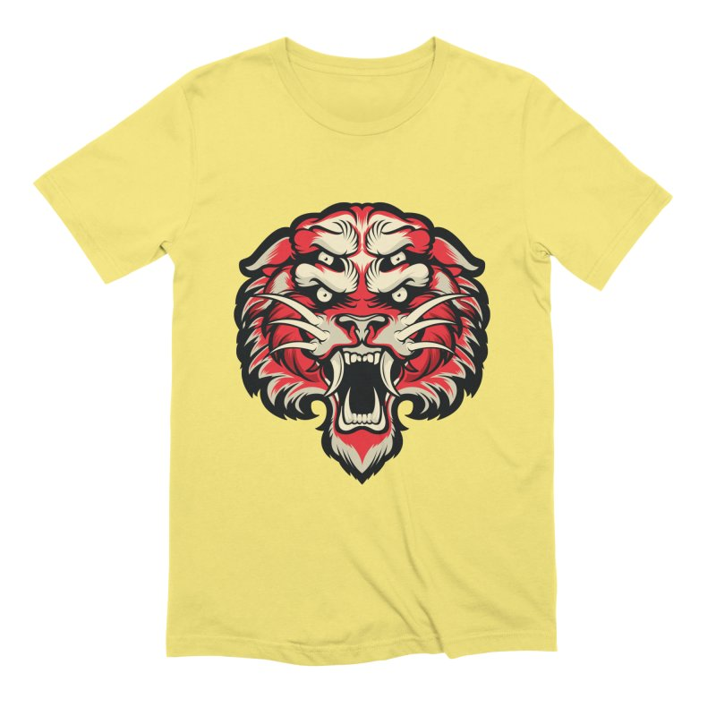 Sabertooth in Men's Extra Soft T-Shirt Light Yellow by HYDRO74