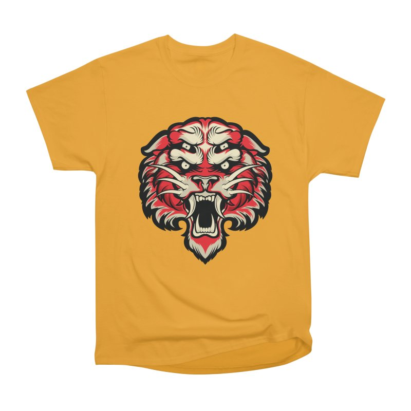 Sabertooth Men's Heavyweight T-Shirt by HYDRO74