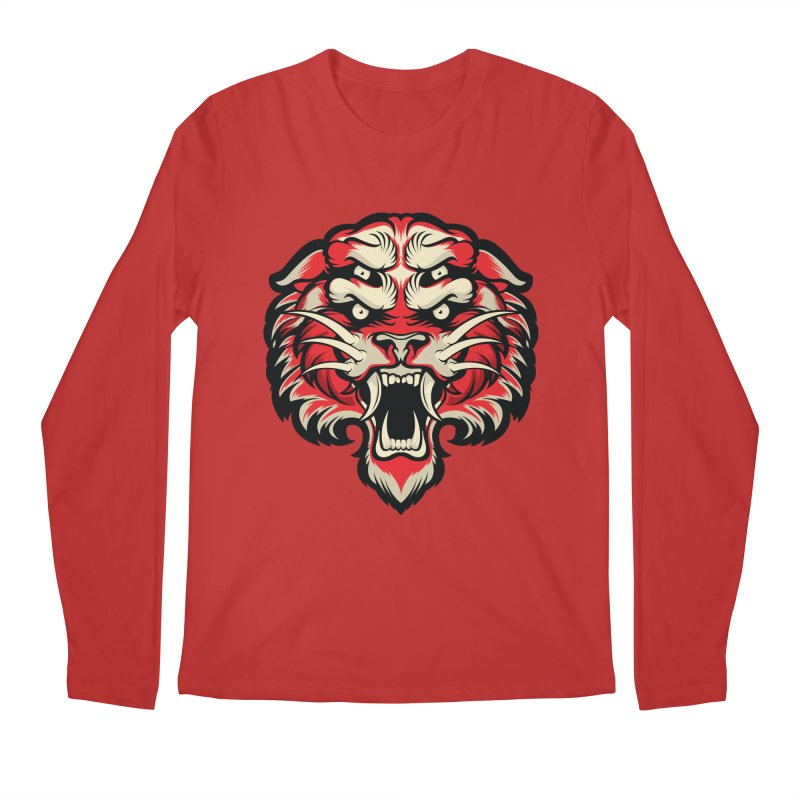Sabertooth Men's Regular Longsleeve T-Shirt by HYDRO74