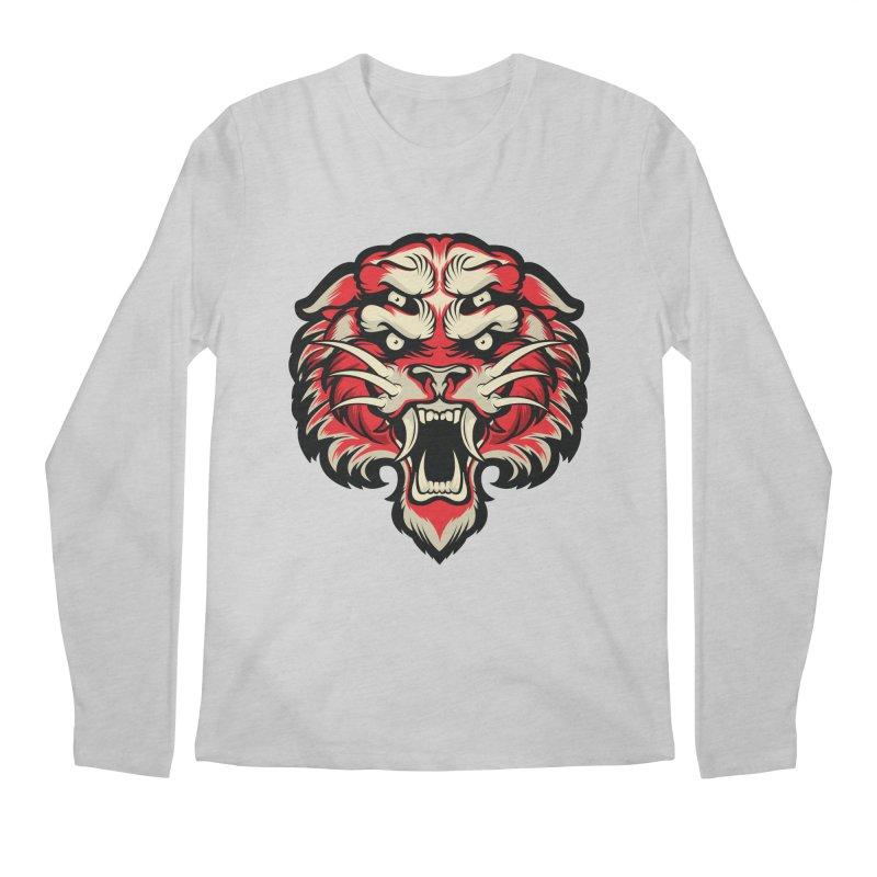 Sabertooth Men's Regular Longsleeve T-Shirt by HYDRO74